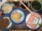 ごぼうサラダ、金平、卯の花、くきワカメ、ネギトロ