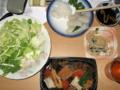 [肴]烏賊の刺身、卯の花、煮物、レタス