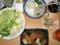 烏賊の刺身、卯の花、煮物、レタス