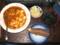 麻婆豆腐、焼き芋、わかめスープ、がり
