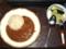 カレーライス&キャベツとキュウリのピクルス