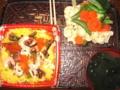ちらし寿司&温野菜サラダ&ワカメスープ