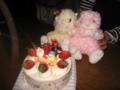 [ケーキ]クリスマスケーキとウサギ