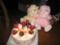 クリスマスケーキとウサギ