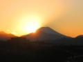 [富士山]日が沈む…