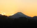 [富士山]夕暮れ富士山