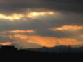 [空][雲]夕暮れ時の光のシャワー