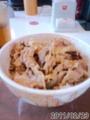 [すき家][牛丼][丼]肉1.5盛り