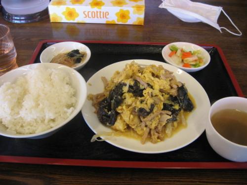 木耳炒め定食