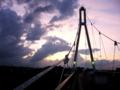 [空][雲]夕暮れふれあい橋