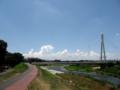 [空][雲]夏の空とふれあい橋