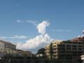 [空][雲]入道雲の先端が…