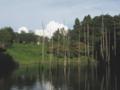 [空][雲][水辺][小山内裏公園]大田切池と入道雲
