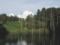 大田切池と入道雲