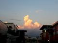 [空][雲]夕暮れ時の入道雲