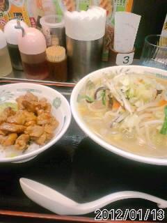 野菜たっぷりタンメン+焼き鳥丼