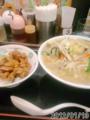 [日高屋][ラーメン]野菜たっぷりタンメン+焼き鳥丼