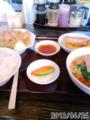 [東京亭][ラーメン]豚生姜焼きラーメン餃子定食