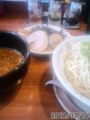 [哲麺][ラーメン][☆☆]つけ麺大盛+替え玉