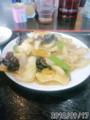 [南京亭]イカの辛子炒め定食