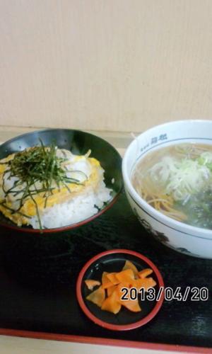 カツ丼セット蕎麦