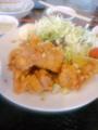 [南京亭]若鶏の唐揚げソースがけ定食