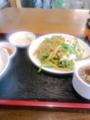 [南京亭]肉とピーマンの炒め定食