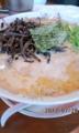[哲麺][ラーメン][☆☆]豚骨醤油キクラゲ