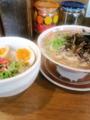 [哲麺][ラーメン][☆☆][丼]まかない丼セット塩ラーメン+キクラゲ