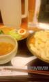 [ラーメン][☆][とろとん]豚骨魚介つけめん平打ち麺中盛り+5種盛り合わせ