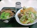 [はなまるうどん][丼]こくうまサラダうどん小一日分+牛肉ごはん