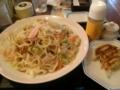 [リンガーハット]6月7日。野菜たっぷり皿うどん+セット餃子@リンガーハット