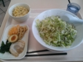 [ラーメン][カインズキッチン]塩ラーメン+野菜盛り+5点盛り+ミニチャーハン@カインズキッチン