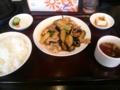 [東京亭]茄子と肉の生姜炒め@東京亭