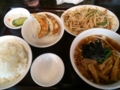 [東京亭][ラーメン]もやしと肉の炒めラーメン餃子セット@東京亭