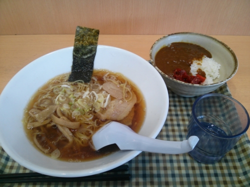 醤油ラーメン+ミニカレー丼