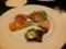 冷製肉の盛合せズワイ蟹のキッシュ秋刀魚スモーク