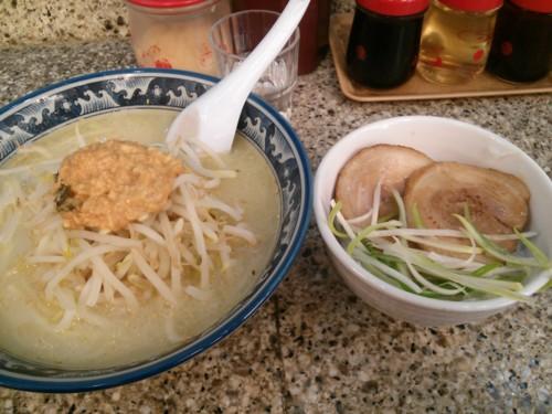 焼きチャーシュー丼セット味噌ラーメン@桜島