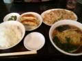 [ラーメン][東京亭]肉ともやしの炒めラーメン餃子セット@東京亭