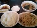 [ラーメン][東京亭]もやしと肉の炒めラーメン餃子セット@東京亭