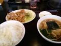 [東京亭][ラーメン]豚肉の炒めラーメン餃子セット@東京亭(餃子取り忘れ)
