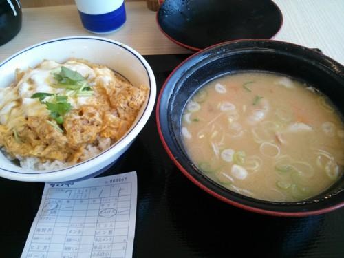 カツ丼梅+豚汁大@かつや