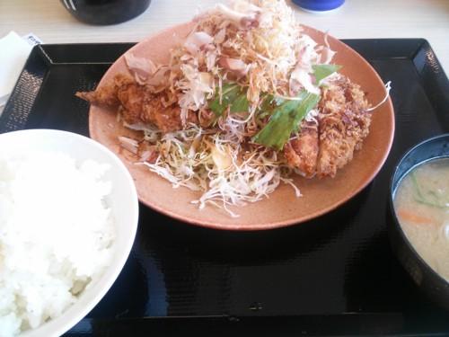 シャキシャキ野菜とチキンカツ定食@かつや