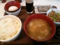 [すき家]玉子かけご飯豚汁朝食+牛小鉢@すき家