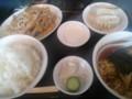 [ラーメン][東京亭]肉ともやし炒め定食ラーメン餃子セット@東京亭