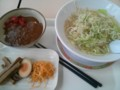 [カインズキッチン][ラーメン][カレー]塩ラーメン+野菜盛り+三点盛り+ミニカレー丼@カインズキッチン