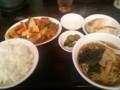 [ラーメン][東京亭]酢豚とラーメン餃子定食@東京亭