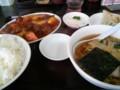 [南京亭][ラーメン]酢豚とラーメン餃子セット@東京亭