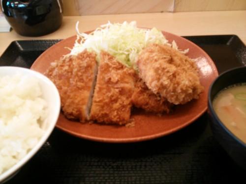 ロースメンチ定食@かつや