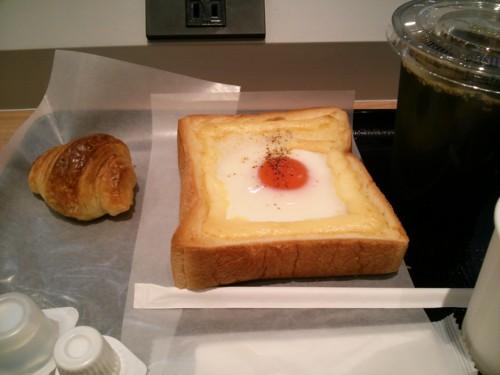 エッグトースト+ソーセージクロワッサン+アイスコーヒー@ルパ